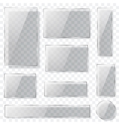 Transparent glass plates vector