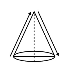 triangle geometric drawn icon vector image