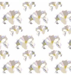 Vintage Delicate White geranium Flowers pattern vector image