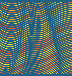 Warped colorful lines background vector