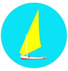yacht on a blue background vector image