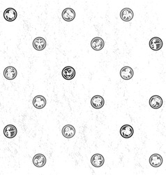 zodiac grungy sparse pattern vector image vector image