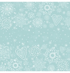 Light blue cristmas background with snowflake vector