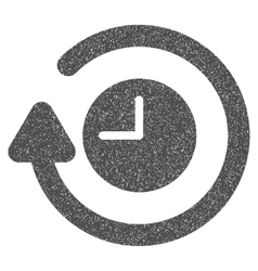 Repeat clock grainy texture icon vector