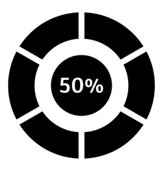 Fifty percent download internet icon simple style vector