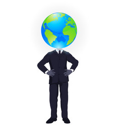 global thinking vector image