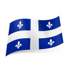 Flag of quebec province of canada central white vector