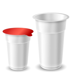 Yogurt cups vector