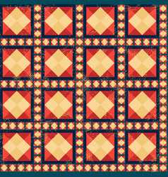 Geometric pattern with grunge effect vector
