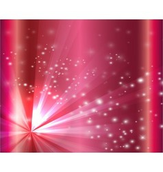 A pink color design with a burst and rays vector