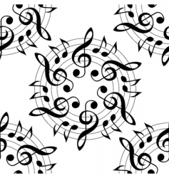 vector musical pattern vector image