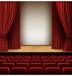 Theatre scene vector