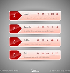 Design layout modern symbols tabs vector