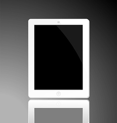 White horizontal computer tablet vector