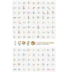 Mega set of light bulb logos vector image