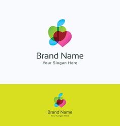Apple music love logo vector