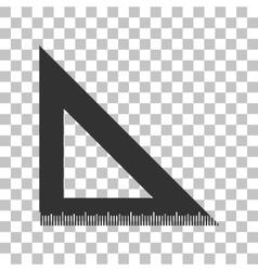 Ruler sign  dark gray icon on vector