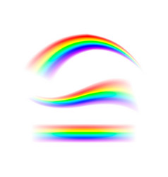 abstract set rainbow in different shapes spectrum vector image vector image