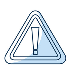 Alert sign isolated icon vector