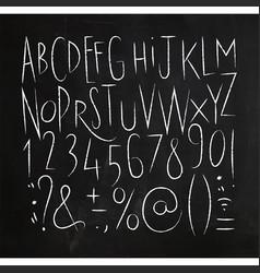 alphabet sharp lines font black vector image