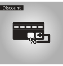 Black and white style icon bank card vector
