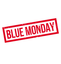 blue monday rubber stamp vector image