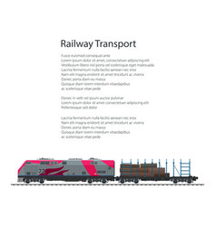 Brochure railway platform with timber vector