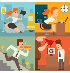 Business work time lag delay vector image vector image