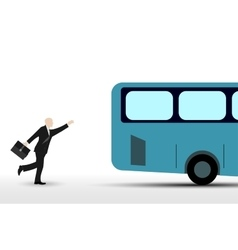 Businessman who runs the bus vector image vector image