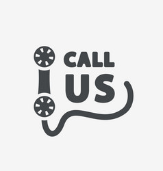 Call us icon vector