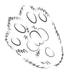 Cartoon image of cat paw icon logo concept vector