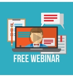 Concept for webinar online learning professional vector