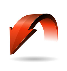 designed red arrow vector image