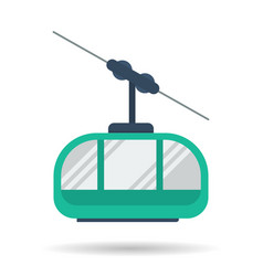 flat cab of the mountain lift icon vector image