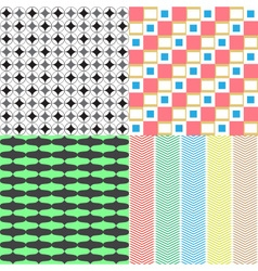 four abstract retro seamless simple patterns eps10 vector image vector image