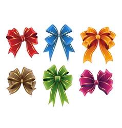 Gift ribbon bows vector image vector image