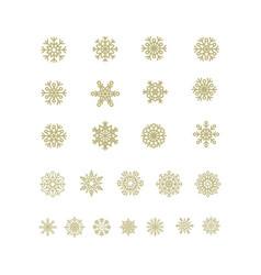 Golden snowflakes icon on white background vector