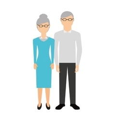 Grandparents characters isolated icon vector