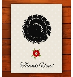 Grunge vintage card with black hand drawn textures vector