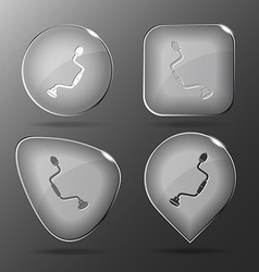 Hand drill glass buttons vector