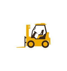 icon forklift truck construction machinery vector image vector image