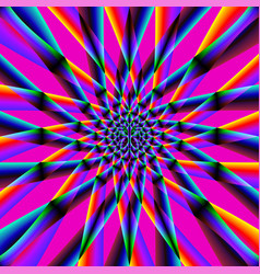 Iridescent psychedelic pattern vector