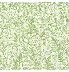 Lacey leaves lineart texture seamless pattern vector image