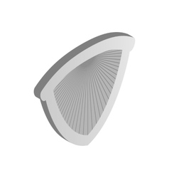 Metal shield icon isometric 3d style vector