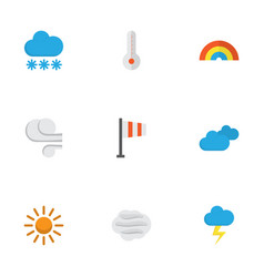 meteorology flat icons set collection of snow vector image vector image