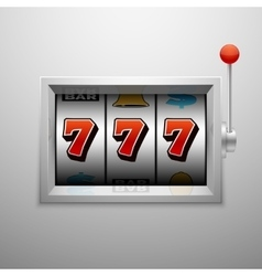 slot machine with lucky seven casino vector image vector image
