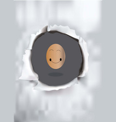 smile egg vector image