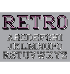 Stylized retro font on the background vector