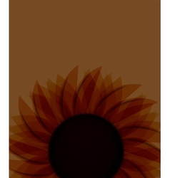 Sunflowers background vector image