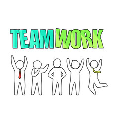 teamwork and people icon on vector image